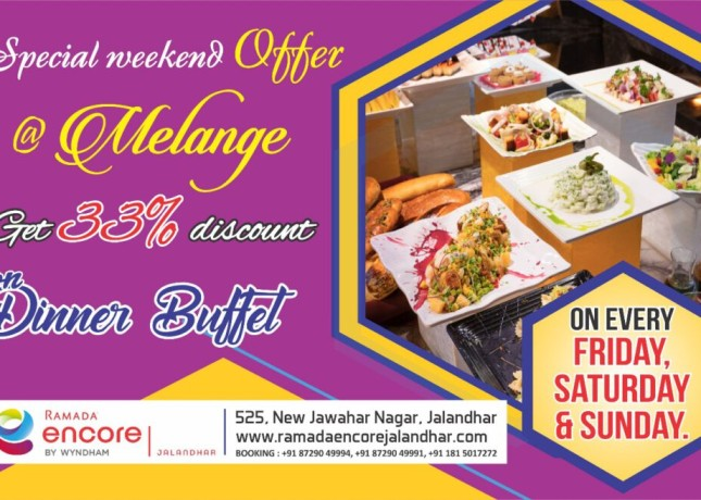 special weekend offers on milange