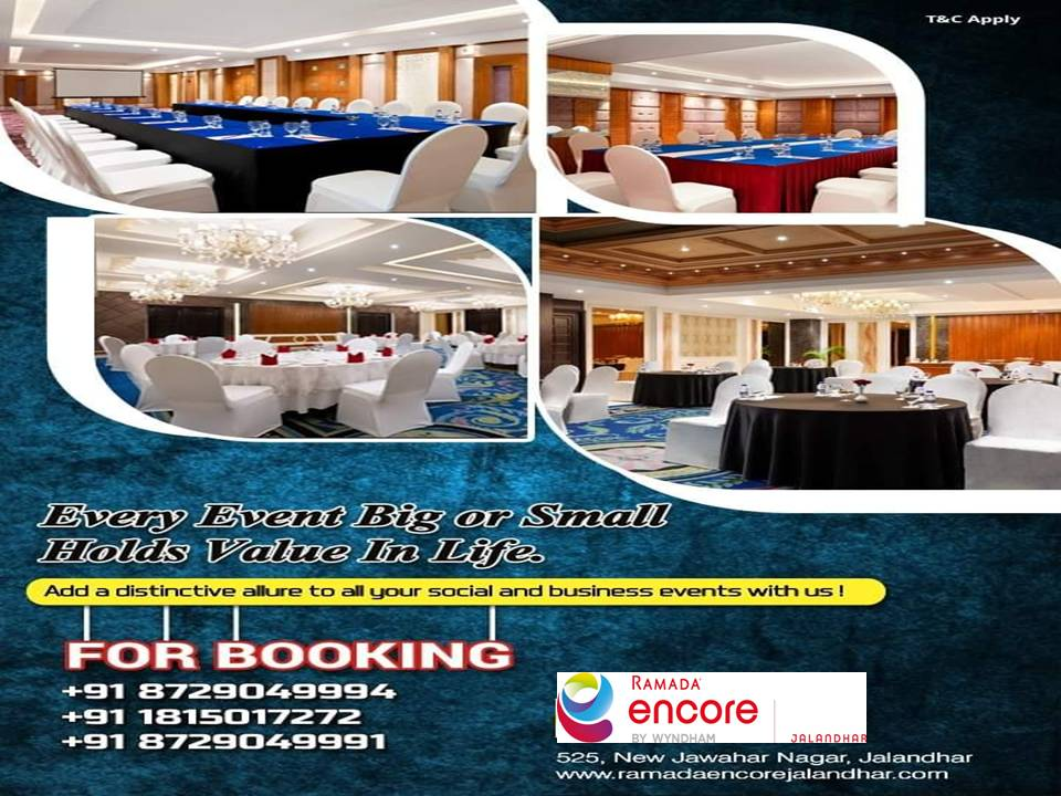 Event Booking offer by Ramada Encore Jalandhr