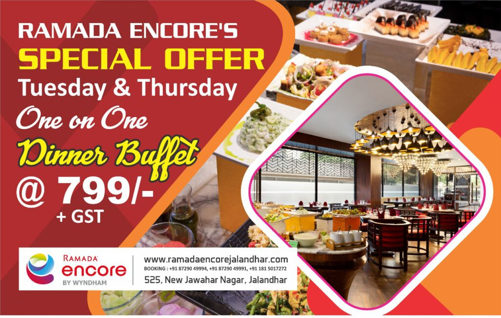 Ramada Encore's special offer for Tuesday & Thursday